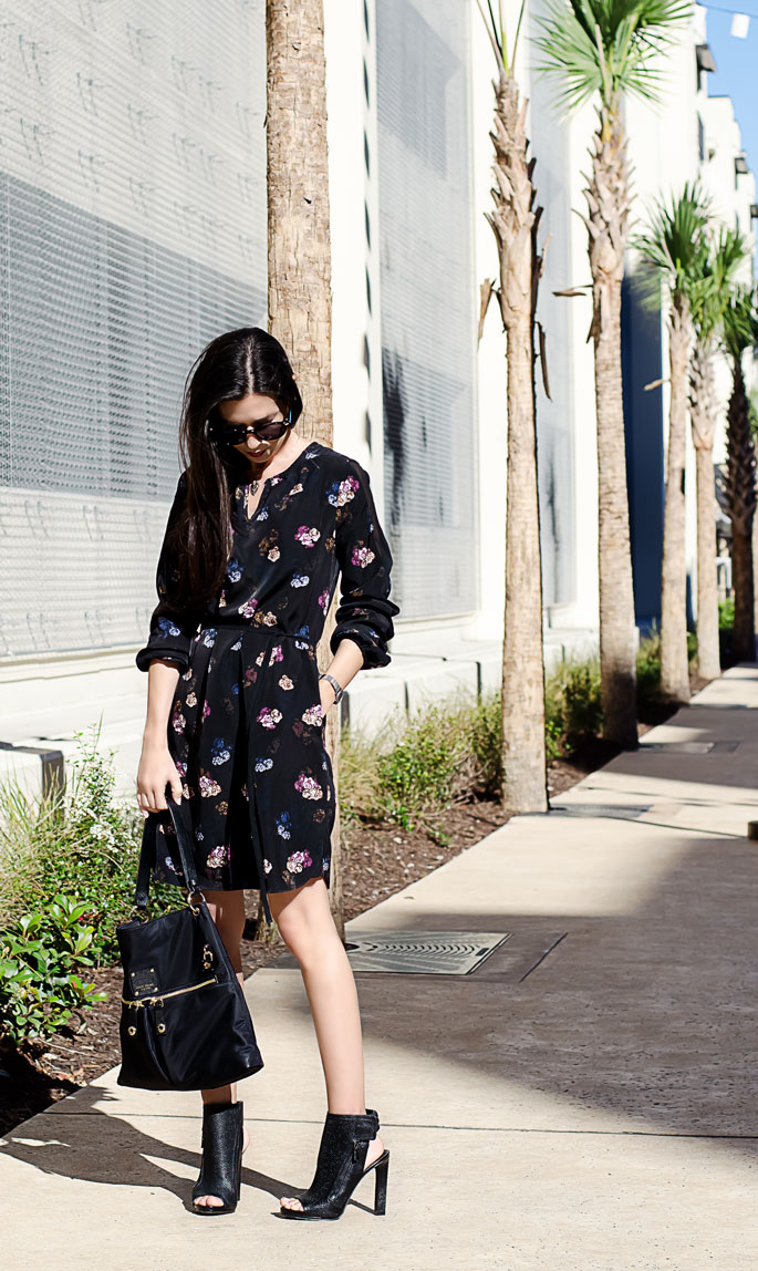 Floral Little Black Dress The Classified Chic