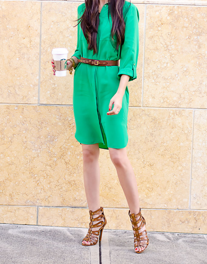 ootd-dorothy-perkins-green-shirt-dress-chinese-laundry-caged-high-heel-sandals-1