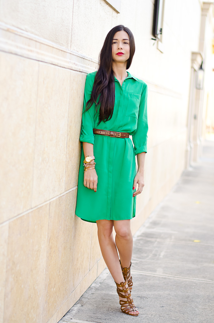 ootd-dorothy-perkins-green-shirt-dress-chinese-laundry-caged-high-heel-sandals-6