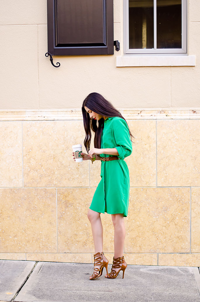 ootd-dorothy-perkins-green-shirt-dress-chinese-laundry-caged-high-heel-sandals-8