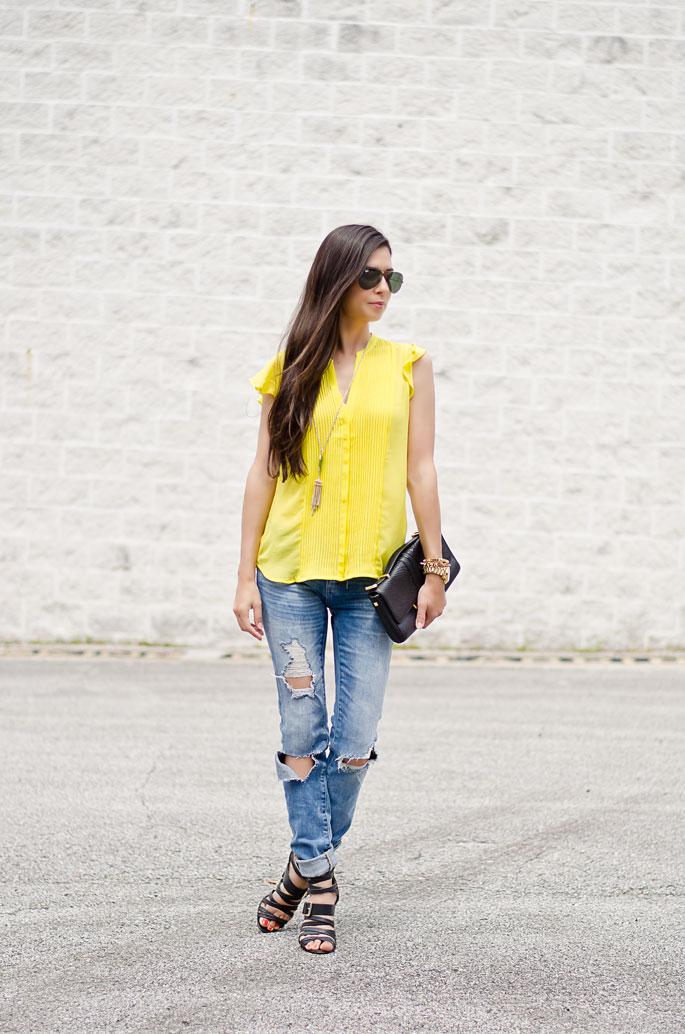 Yellow Blouse Outfit 20