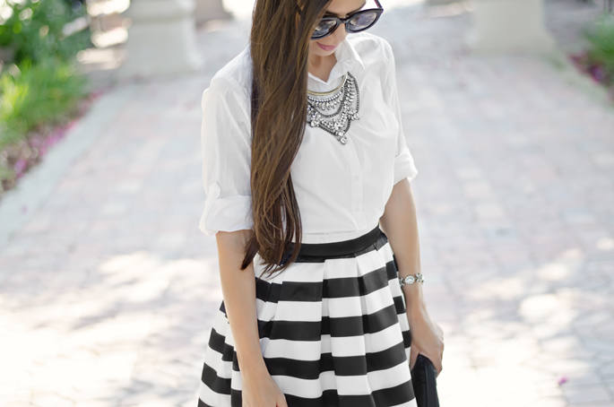 Striped Midi Skirt | the classified chic