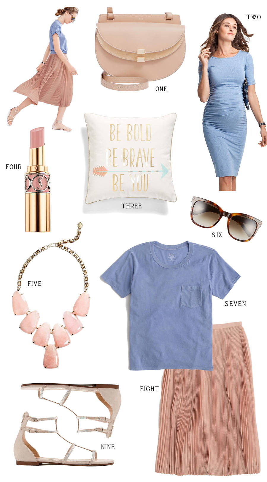 79a7295f4d8da Spring-Fashion-Inspiration -Board-with-Pantone-Color-of-the-Year-Rose-Quartz-and-Serenity