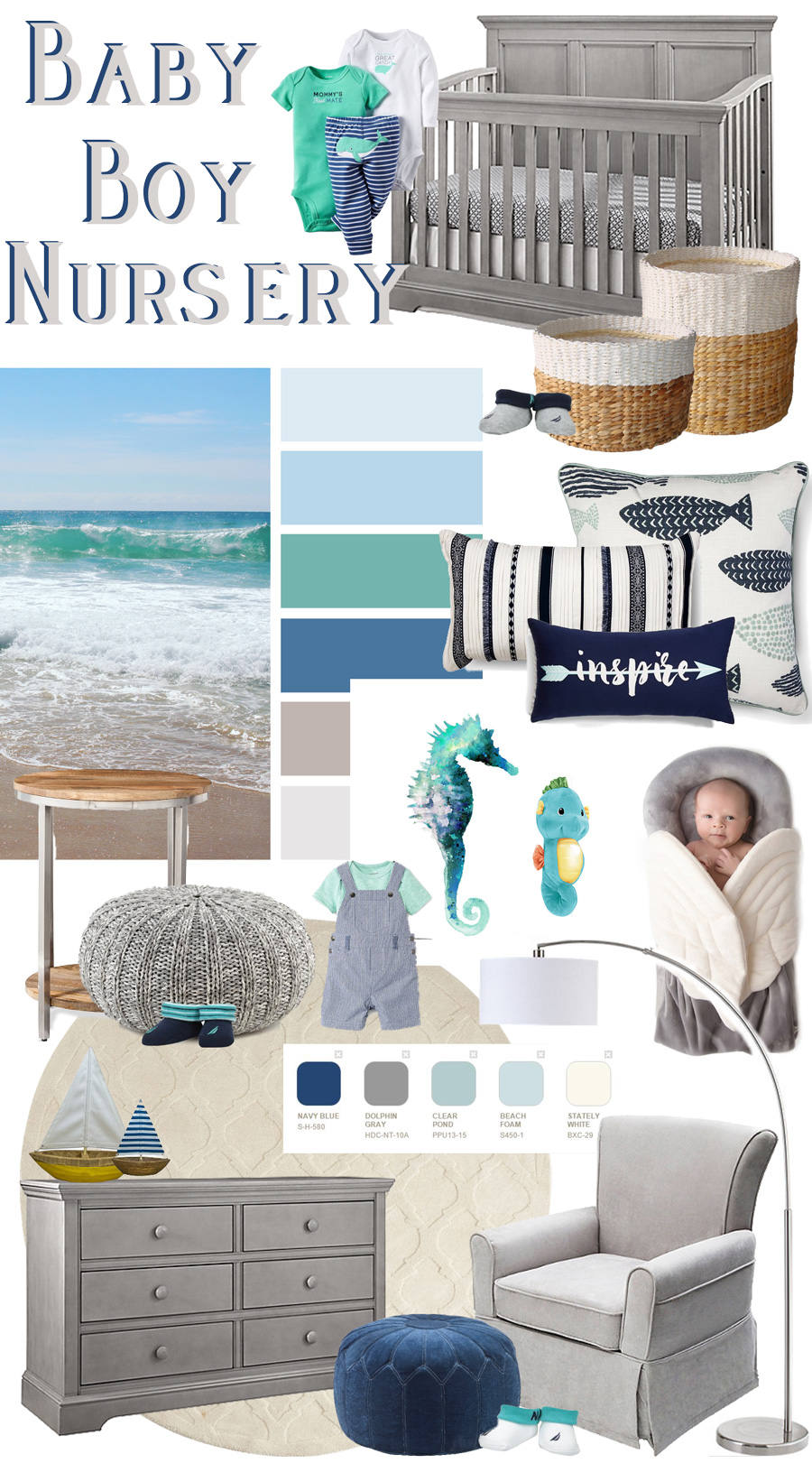 Baby-Boy-Nursery-Design-Inspiration-Nautical-Theme-with-Blue-Grey-Aqua