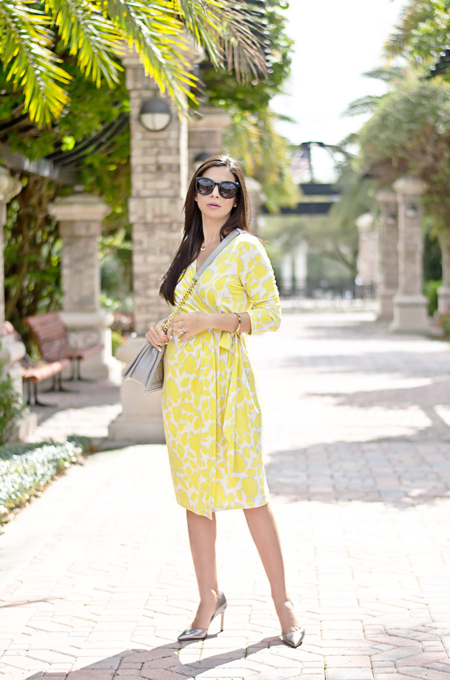Yellow floral wrap dress the classified chic floral wrap dress from a pea in the ombrellifo Gallery