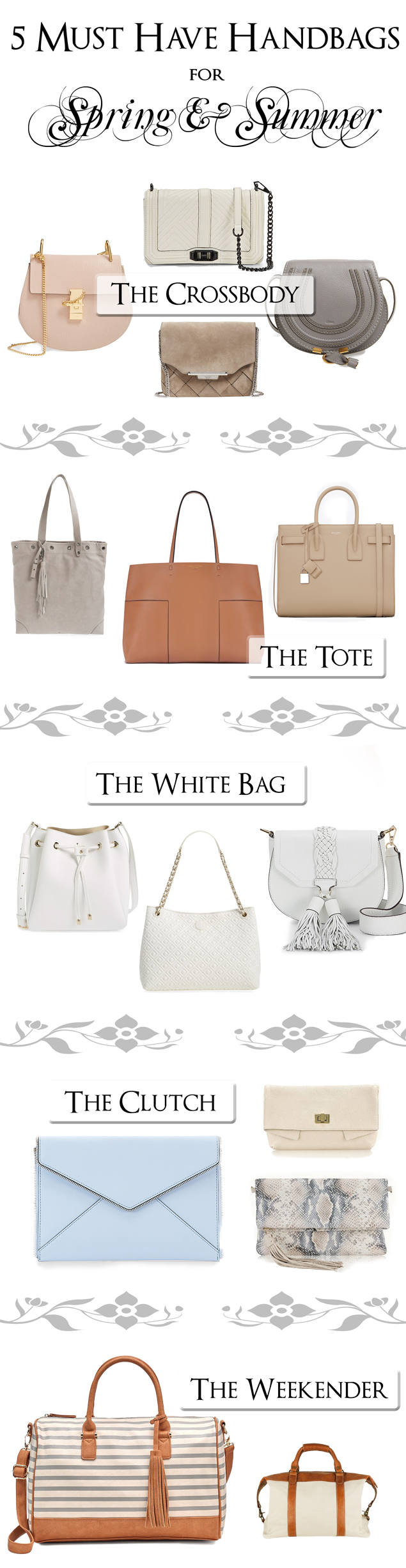 5 Must Have Handbags for Spring & Summer