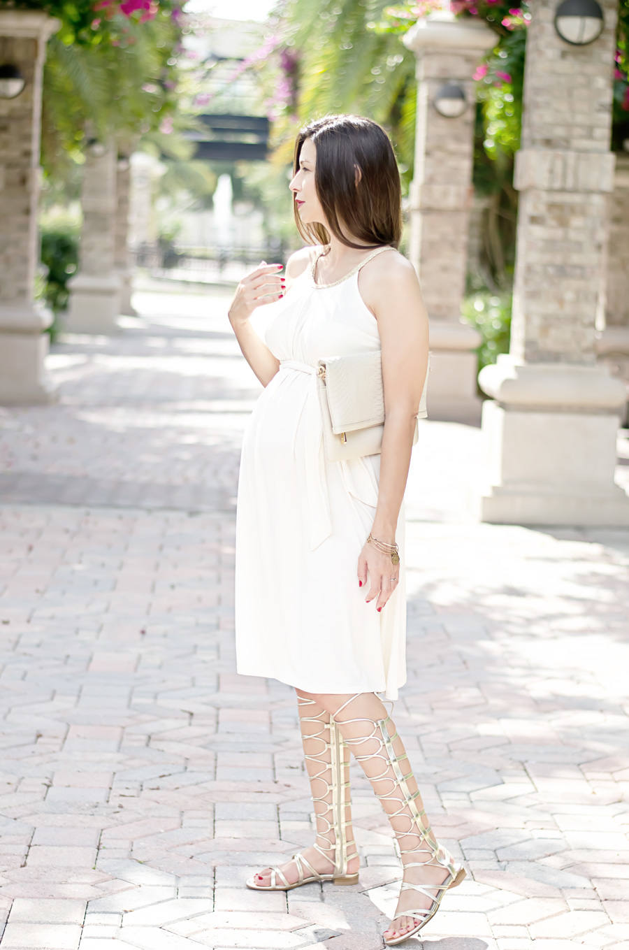 Envie de Fraise Dress with Stuart Weitzman Gladiator Sandals