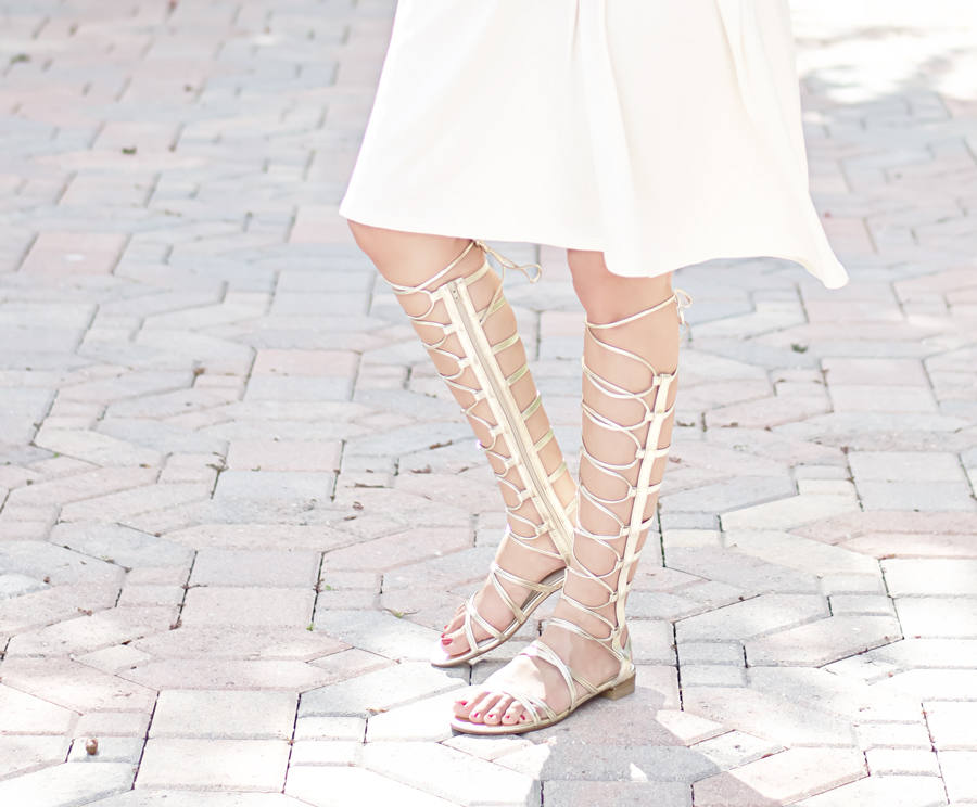 Stuart Weitzman Gold Gladiator Sandals. I love gladiator sandals, and these are the perfect pair!