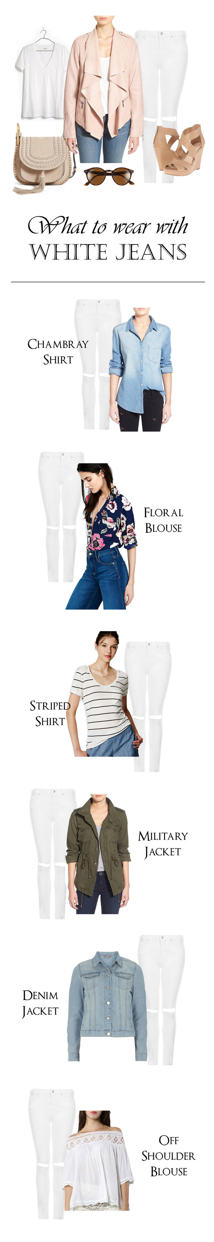 what to wear with white jeans: 7 stylish outfits
