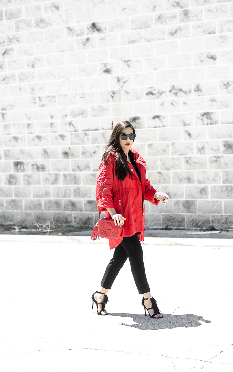 Fall & Winter Fashion Must Haves with Stein Mart featuring a Gucci Soho Disco Bag Red