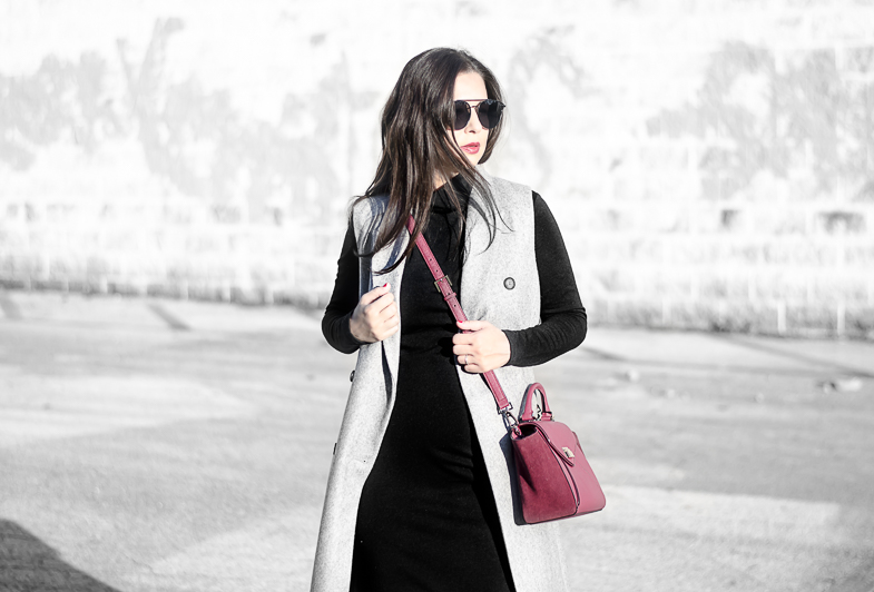 Fall & Winter Fashion. Sweater Dress with Vest from Banana Republic. The Classified Chic life & style blog.