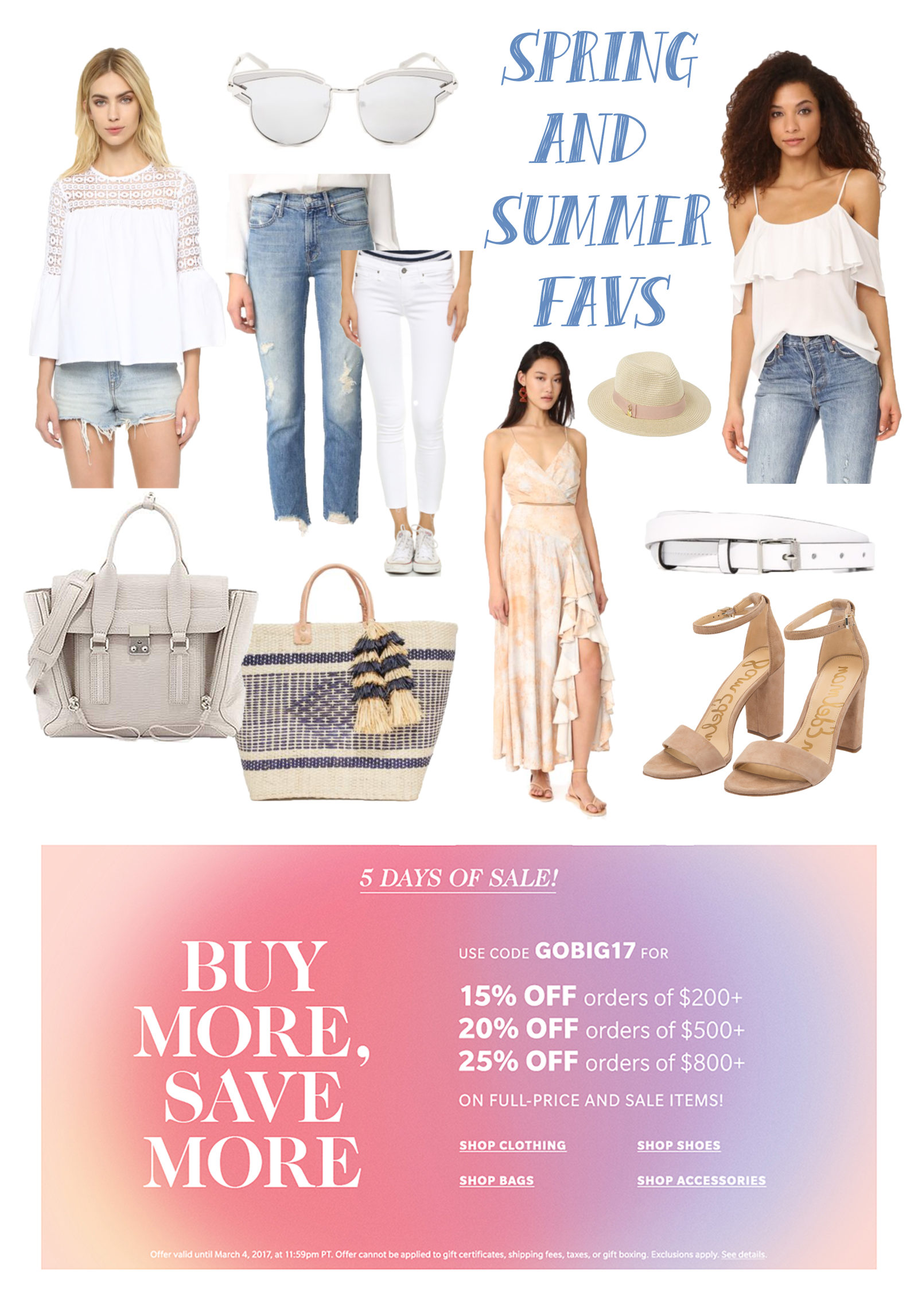 Spring Summer Favorite Looks SHOPBOP SALE - The Classified Chic - @ClassifiedChic